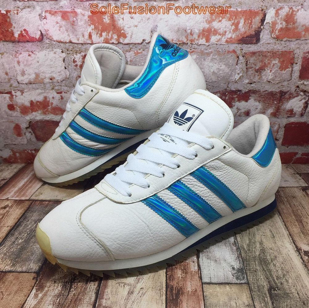 the best attitude dead1 f4743 adidas Mens Country Ripple Trainers White Blue sz 8.5 VTG Sneaker US 9 EU  42 2 3   eBay