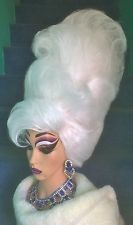Stunning Hand Styled Huge White Beehive Drag Queen Wig