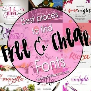 Best Places to Find FREE and CHEAP Fonts | Silhouette ...