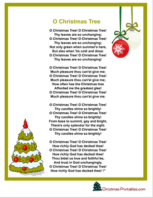 Printable Carol Lyrics O Christmas Tree Christmas Carols Lyrics Christmas Songs Lyrics Christmas Lyrics