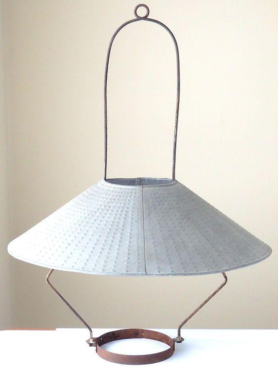 Antique Oil Lamp Hanger General Store Lantern Bracket Tin Antique Oil Lamps Oil Lamps Vintage Lighting