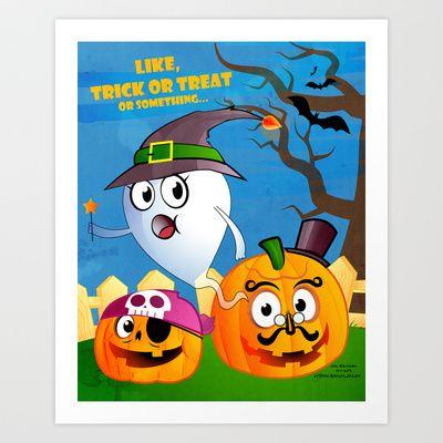 Halloween Ghost - Trick or Treat Art Print by John Earickson - $15.00