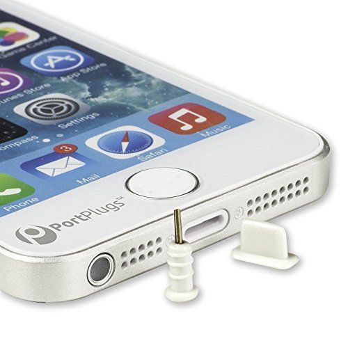 Save $3.00 on PortPlugs - 5 Pairs of Premium Silicone Anti Dust Plugs for iPhone 6, 6 Plus, 5, 5s, 5c, iPad Mini, Air; Includes...; only $5.99