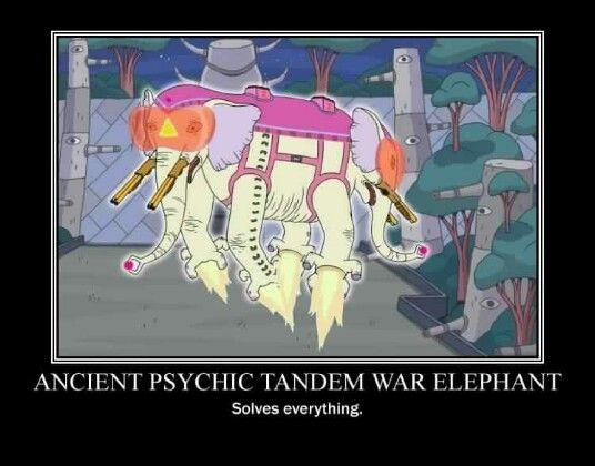 Adventure time ancient psychic tandem war elephant adventure