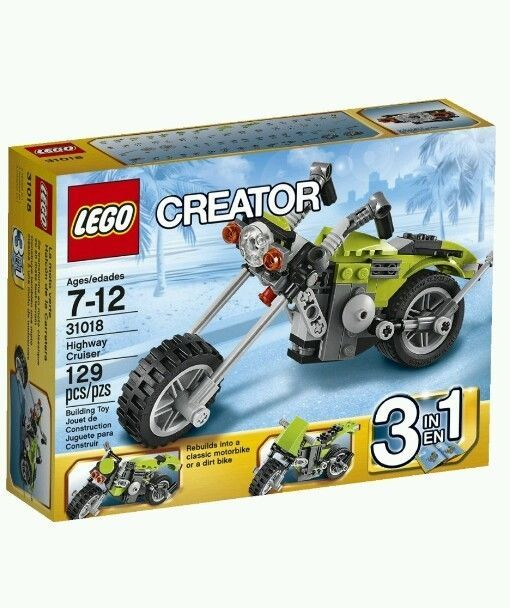 EASTER BASKET TREATS 99 CENT AUCTIONS 1 Box LEGO CREATOR 31018 HIGHWAY CRUISER 3 In Set Dirt Bike Motorcycle Chopper Sets