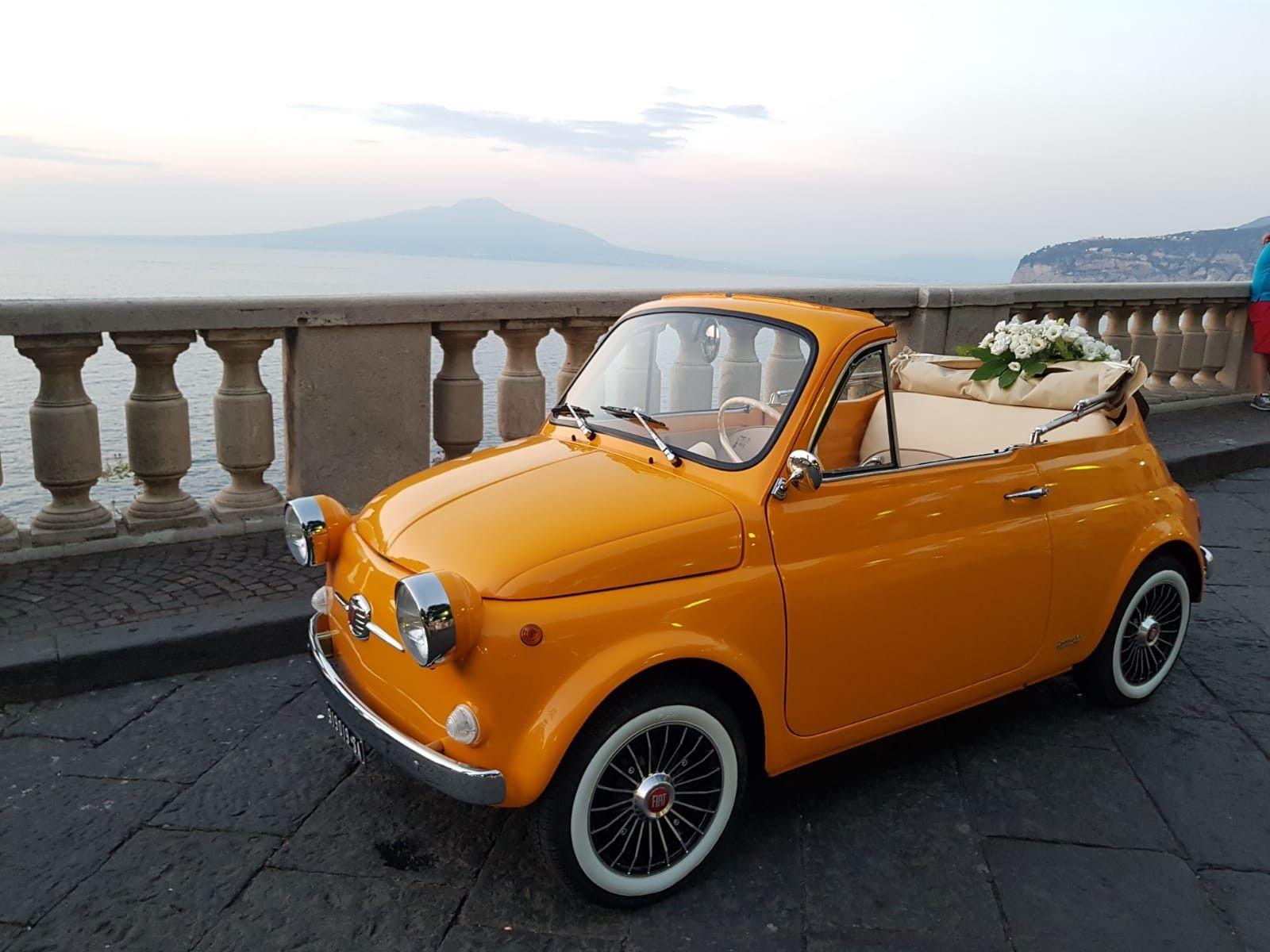 Wedding Car Sorrento Convertible Fiat 500 Yv500