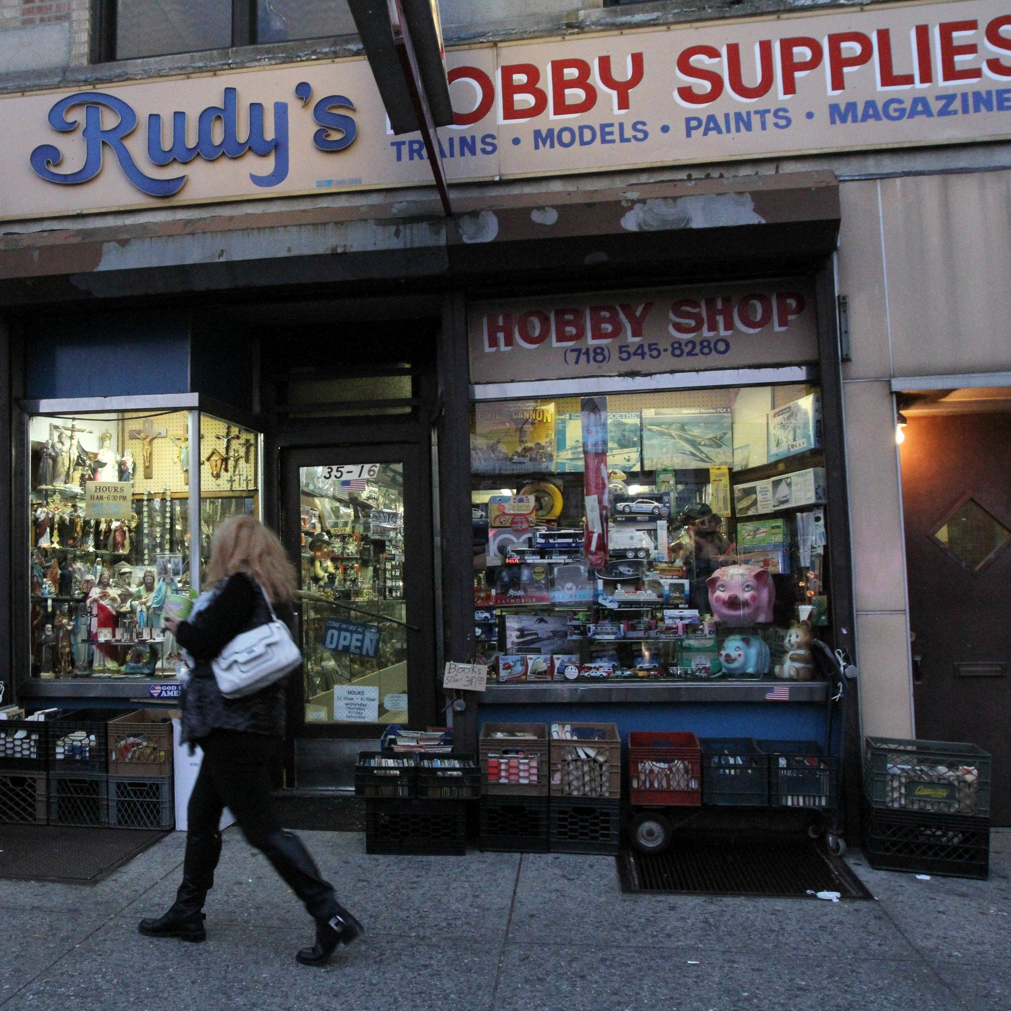 Rudy's Hobby & Art in Astoria, Queens, sells an extensive