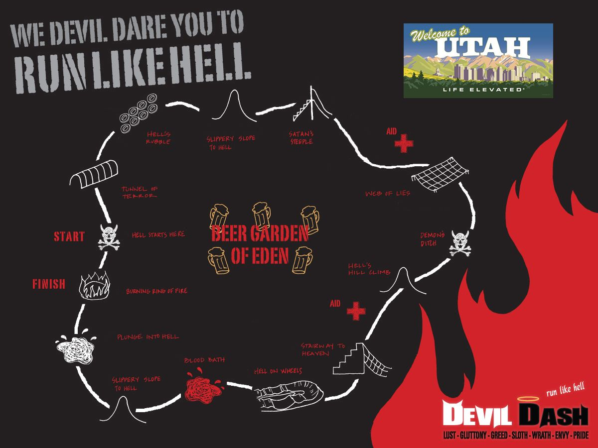 Devil Dash - Utah - 5k Obstacle Mud Run