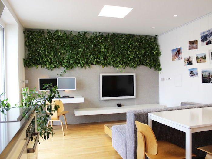 kompaktes Wohnzimmer, Arbeitszimmer und Esszimmer mit Efeu - deko fur wohnzimmer