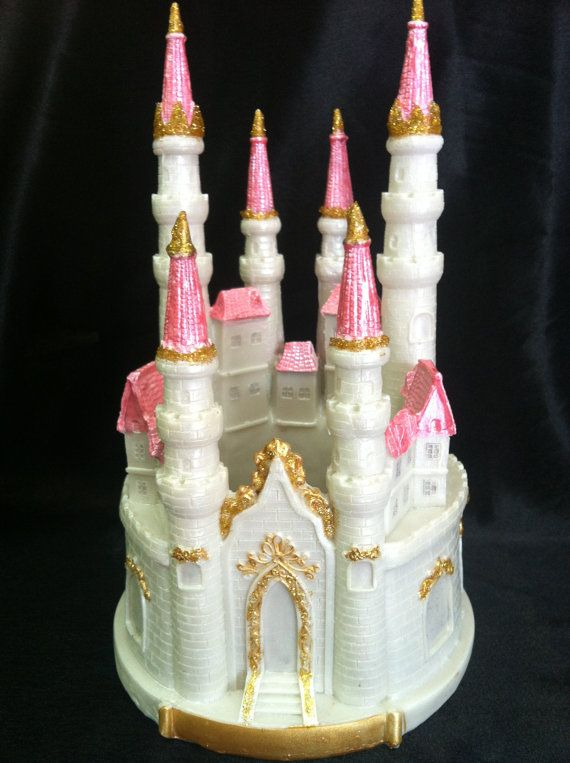 Magnificent Beautiful And Elegant White Castle With Gold Blue Or Pink Accents Funny Birthday Cards Online Inifofree Goldxyz