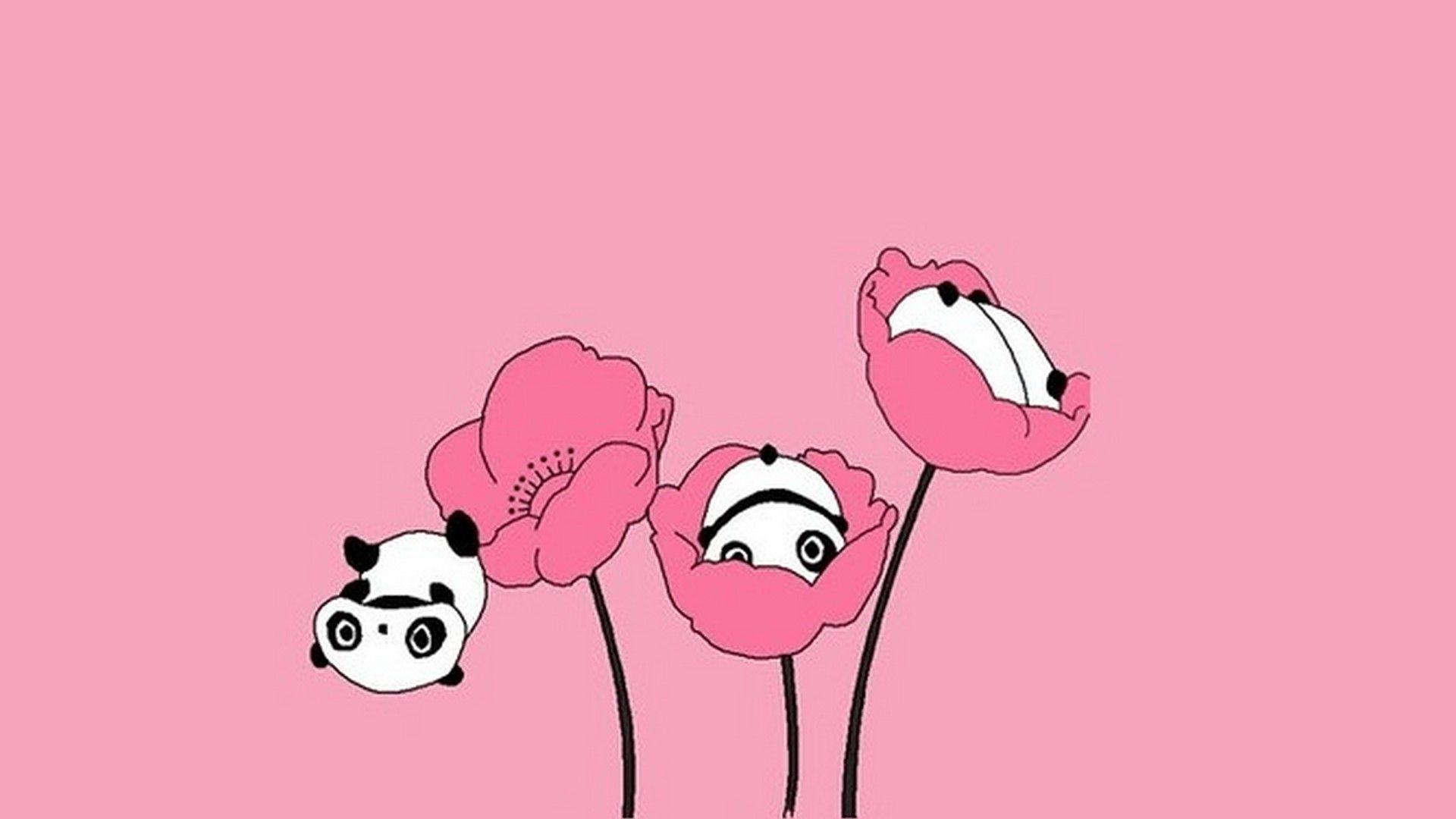 Cute Pink Panda Wallpaper Panda wallpapers, Cute girl