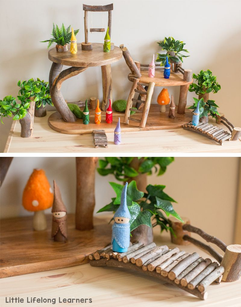 DIY Tree House for Small World Play #house