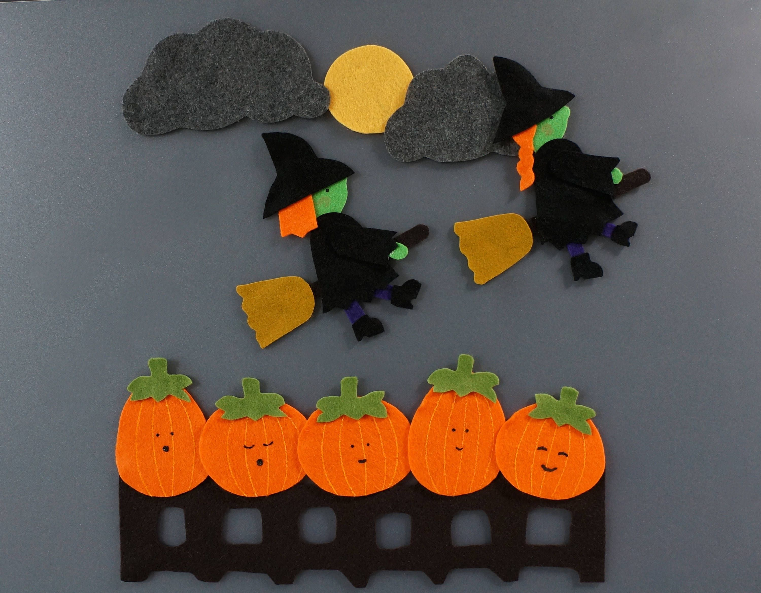 5 Little Pumpkins Felt Story Felt Stories Flannel Board Story Circle Time Preschool