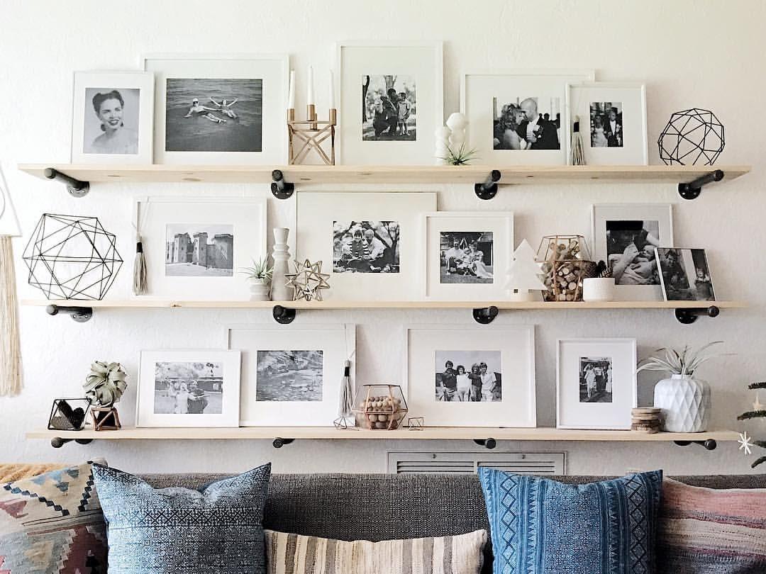 photo by @smeltzhaus | Art Walls | Pinterest | Art walls, Shelves ...
