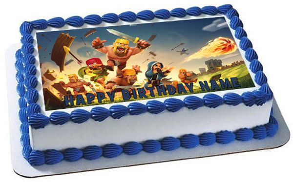Clash Of Clans Edible Cake Topper Or Cupcake Topper Decor In