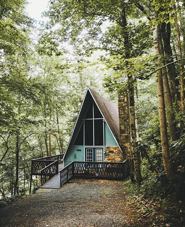 Gatlinburg, Tennessee A-frame via @coreywolfenbarger | Dream spaces ...