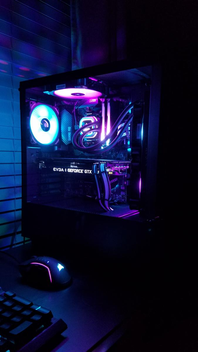 Stormhawk27 S Completed Build Ryzen 5 2600 3 4 Ghz 6 Core Geforce Gtx 1080 Ti 11 Gb Sc Black E Gaming Computer Room Gaming Room Setup Best Gaming Wallpapers