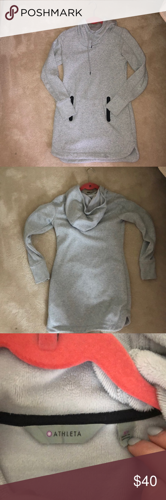 5ded80554c Athleta Hayes Hoodie Dress Excellent condition. Cowl neck
