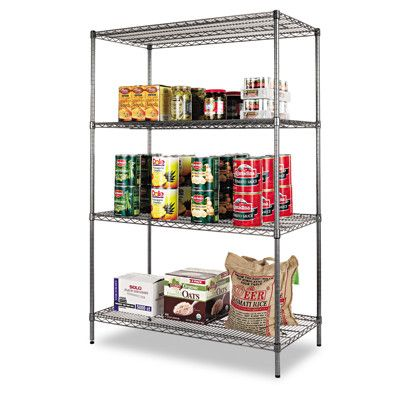 1,000-lb. Wire Shelving Starter Kit with 4 Shelves from BJ\'s ...