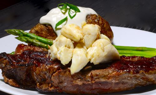 New York Strip Steak Topped With Jumbo Lump Crab And Burnt Butter Strip Steak Recipe Beef Recipes Crab Meat Recipes
