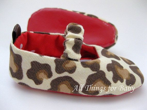 ea411469655 Baby girl shoes leopard and red mary jane ballet flat- Christian Louboutin  Inspired - i need these