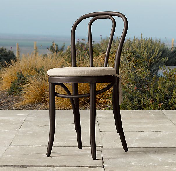 French Cafe Metal Dining Side Chair