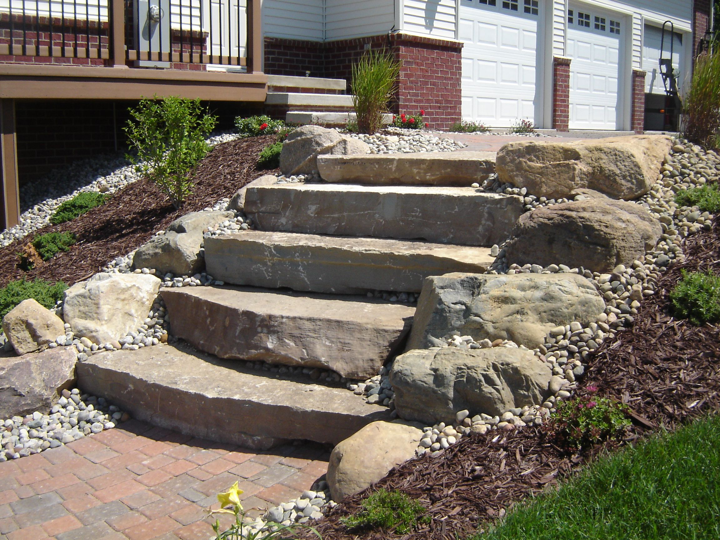 Best Limestone Steps With Boulders In 2019 Fire Pit 400 x 300