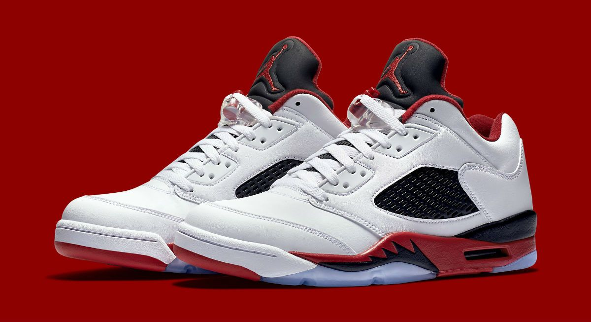 44bce5e8460 ... purchase fire red air jordan retro 5 low zapatos e54a0 409e7