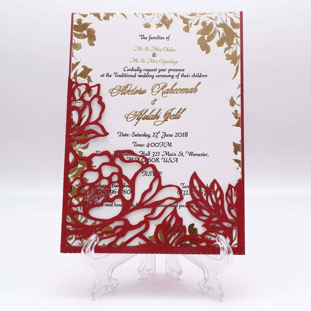 peonies wedding invitation pocket envelope 5x7 svg template