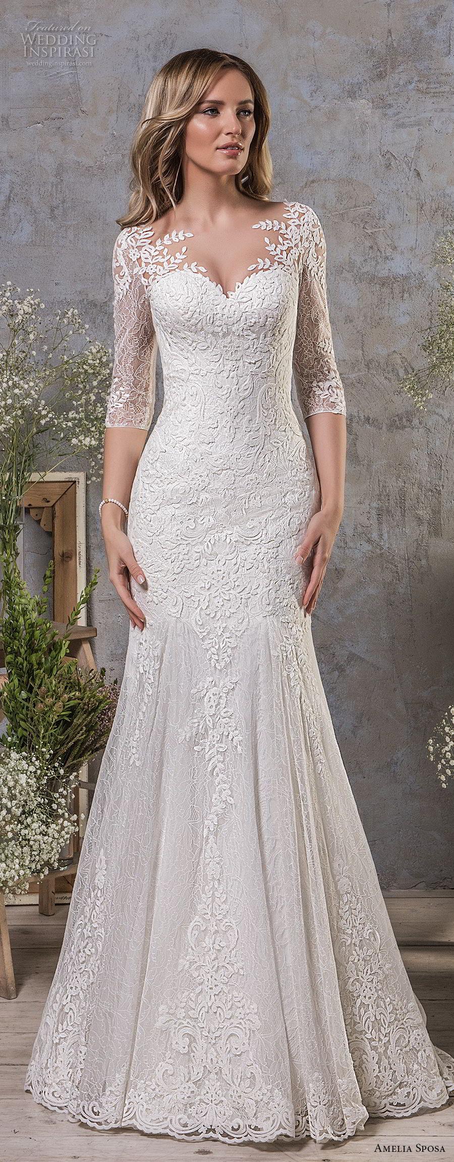 Amelia Sposa Fall 2018 Wedding Dresses Wedding Inspirasi Wedding Dresses Wedding Dresses Lace Best Wedding Dresses [ 2300 x 900 Pixel ]