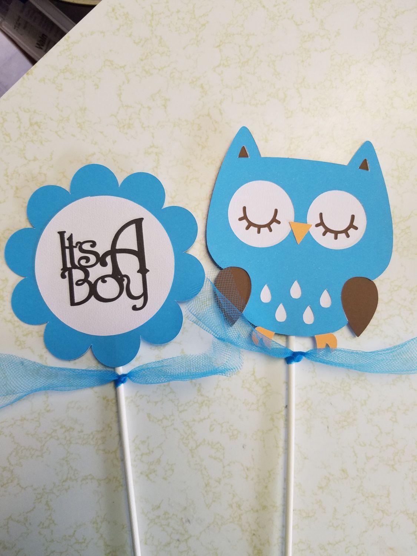 Owl Its A Boy Centerpiece Owl Baby Shower Owl Centerpiece It S A