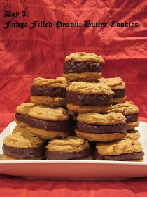 Pammi Cakes Recipes: Day Three: Fudge Filled Peanut Butter Cookies Recipe