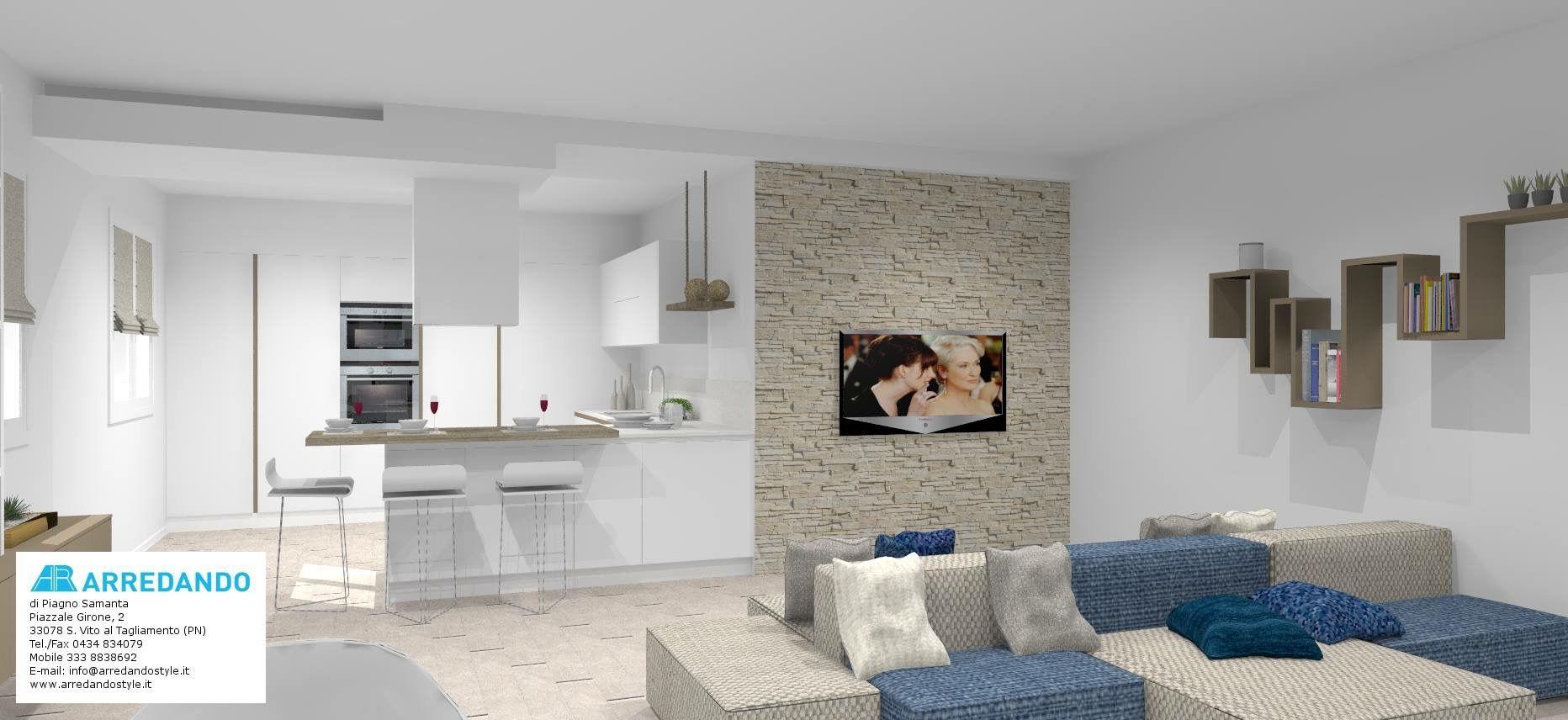 Attico con terrazzo progetto di arredamento per attico for Arredamento attico