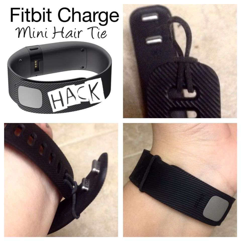 Fitbit Charge Safety HACK Don't lose your fit bit. Mini hair ties come in a pack for $1.