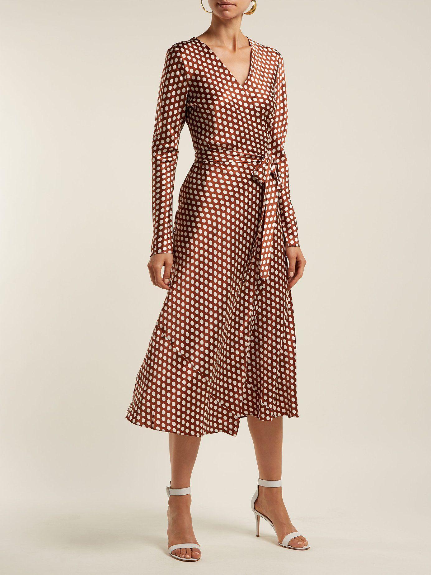 ed57ac5045 Baker polka-dot wrap-around silk dress | Diane Von Furstenberg |  MATCHESFASHION.COM US
