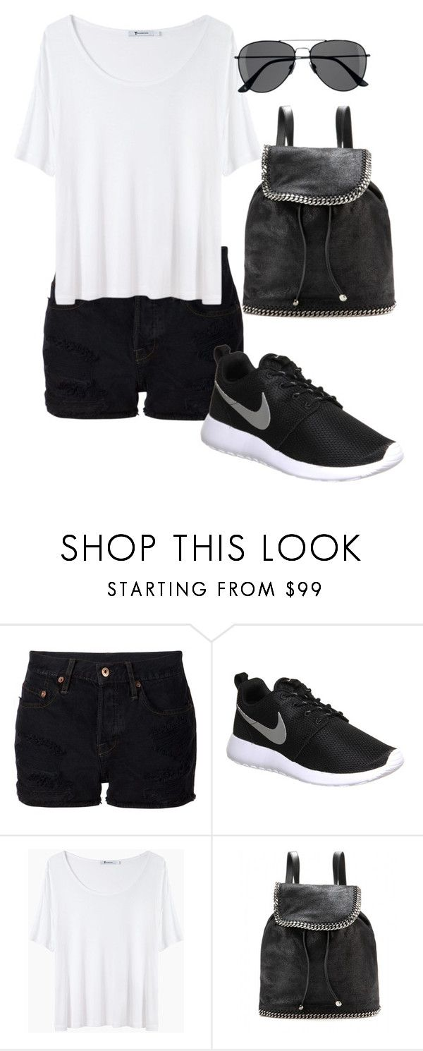 """""""Trip to Greece"""" by leengardini ❤ liked on Polyvore featuring NSF, NIKE, T By Alexander Wang, STELLA McCARTNEY and H&M"""