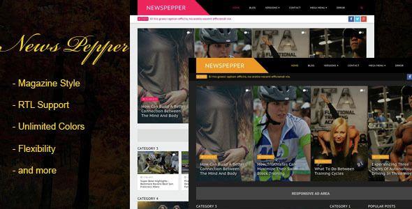 Download Free Newspepper Responsive Blogger Magazine Magazine Template Magazine Blogger Template Best Website Templates