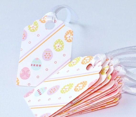 Pack of 12 handmade easter gift tags easter egg tags gift tag set pack of 12 handmade easter gift tags easter egg by cardsbygaynor 295 negle Images