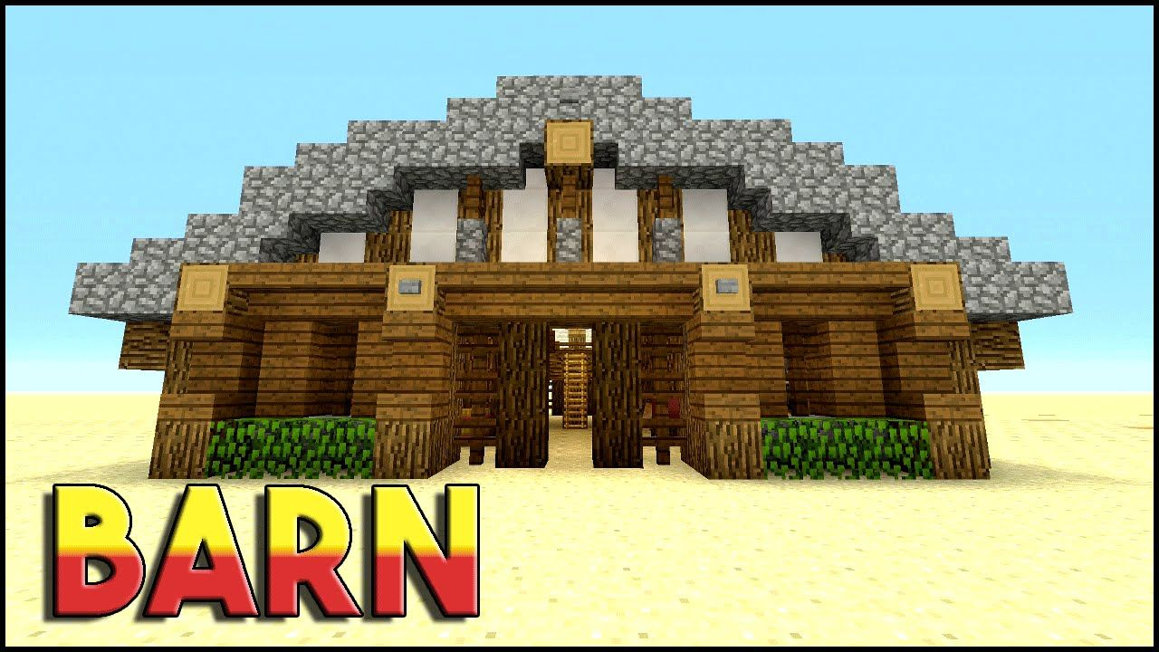 how to build a barn in minecraft