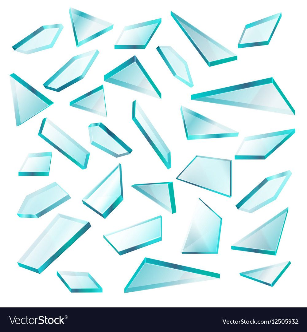 Broken Glass Shards Isolated On White Set Vector Image Aff Shards Isolated Broken Glass Ad Broken Glass Art Graffiti Cartoons Glass Art