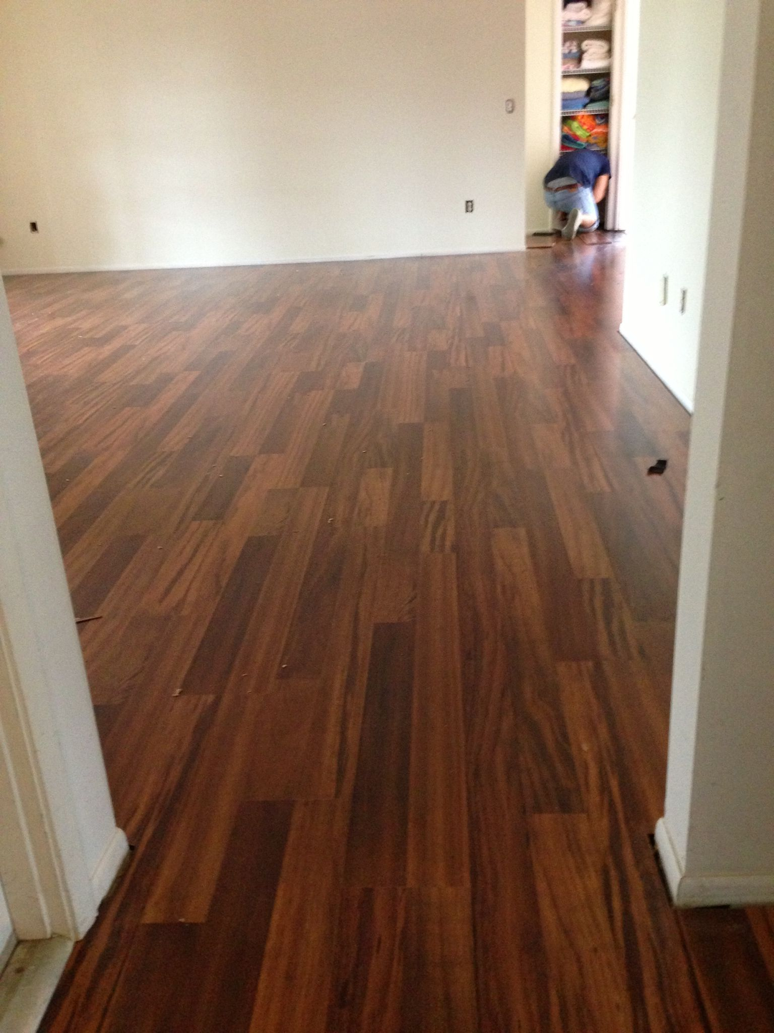 Calling them the best floors ever! Allen & Roth Tigerwood