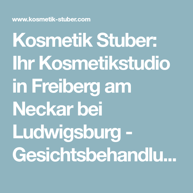 kosmetikstudio ludwigsburg