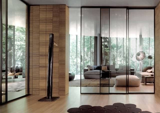Sliding Door Glass Double Full Height Pavilion Minimal By Antonio Citterio Tre P Tre Piu