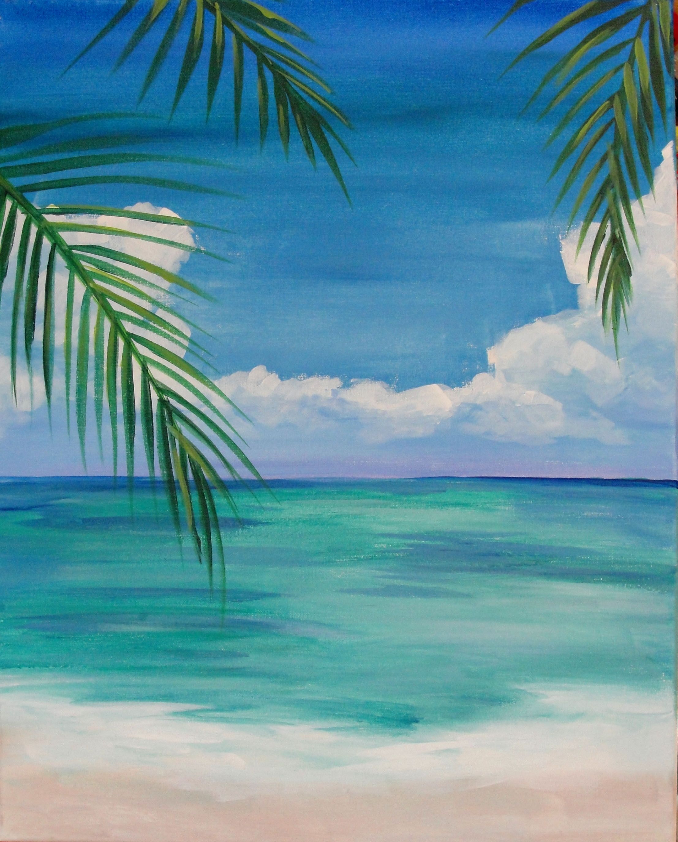 Image Result For Easy Beach Paintings For Beginners Beach Art Painting Watercolor Paintings For Beginners Easy Canvas Art