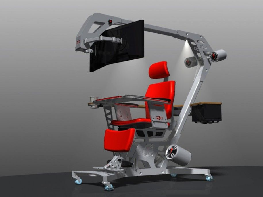 Modern Nice Amazing Creative Adorable Ergonomic Gaming Desk Idea