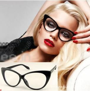 ec844ef381 Wholesale Glasses - Buy Brand New Designer Cat Eye Glasses Retro Fashion  Black Women Glasses Frame Eyewear ABC92 DHL Free