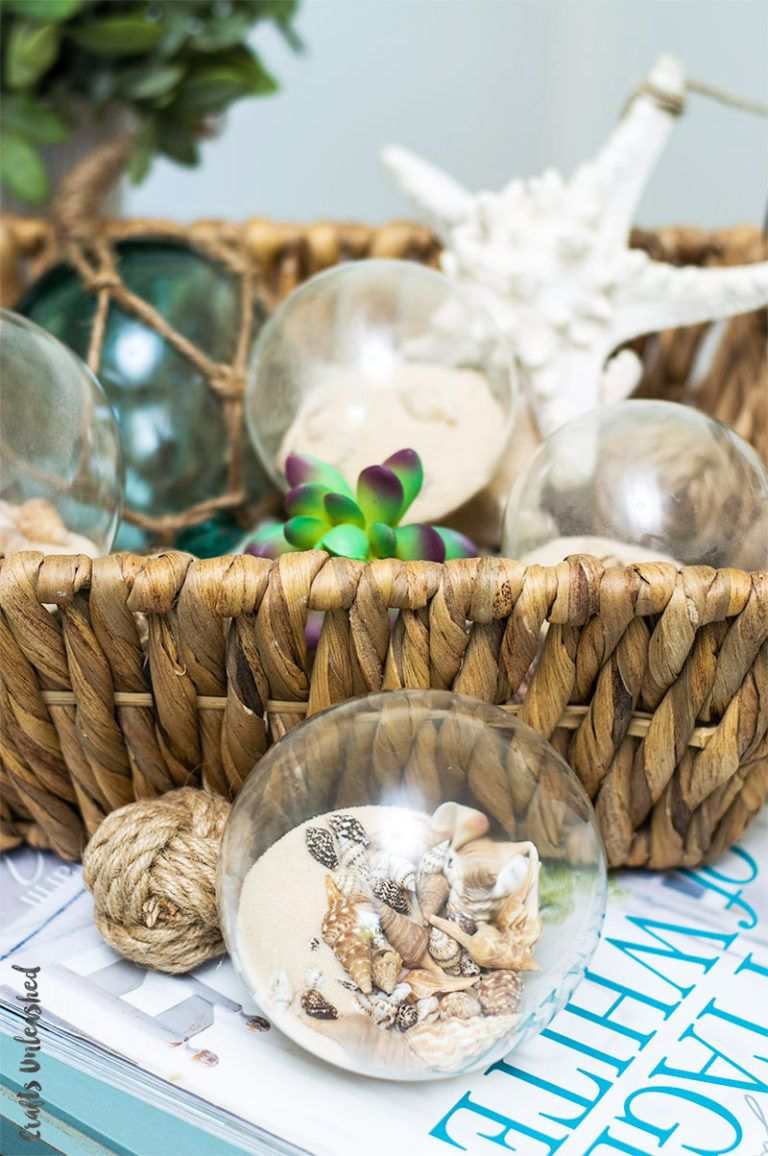 Diy Shell Decor Coastal Spheres Consumer Crafts Diy
