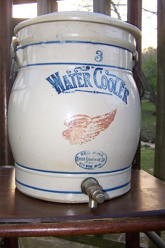 Vintage Red Wing Union Stoneware 3 Gallon Water Cooler