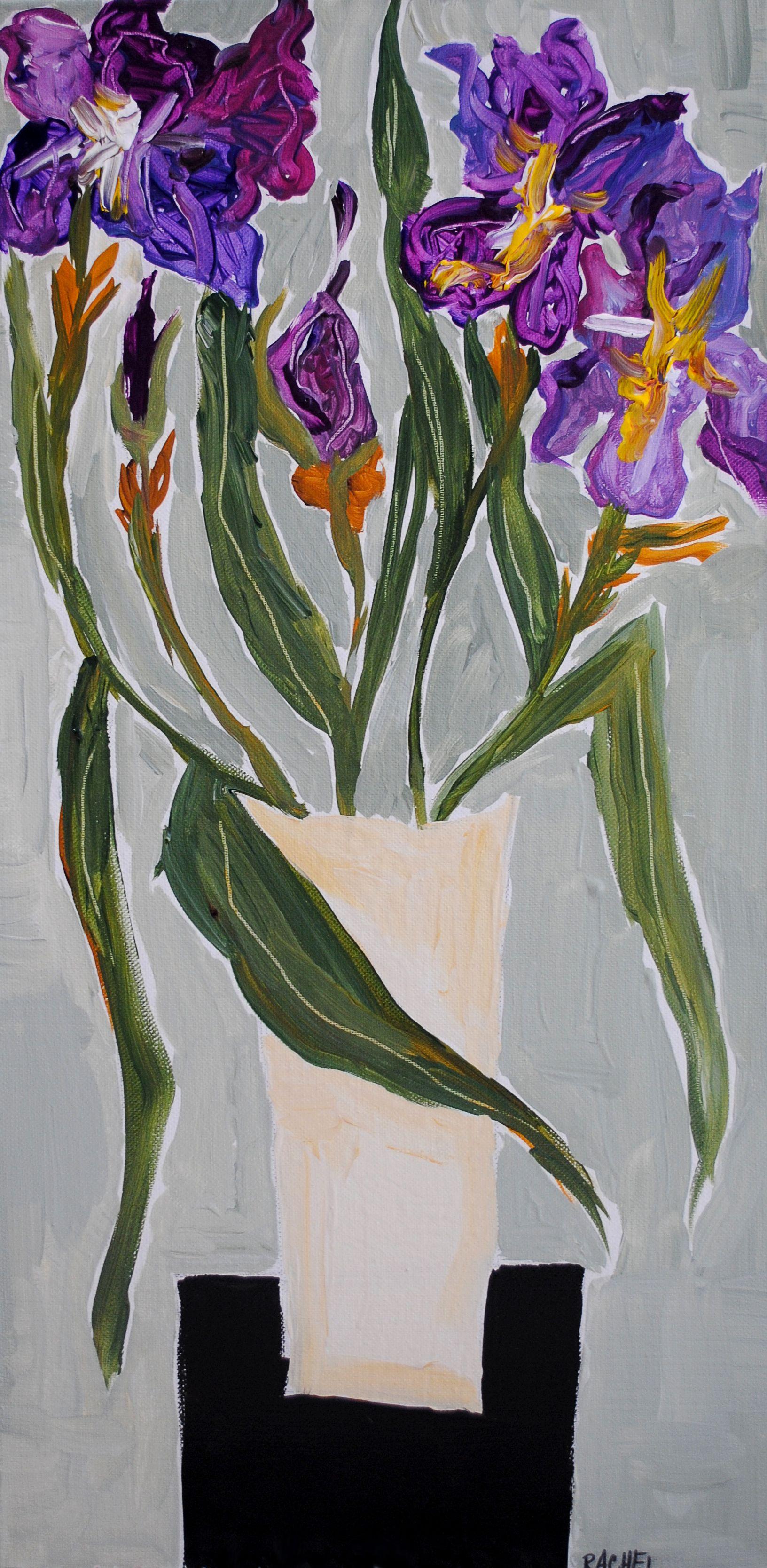 Iris flower painting byrachel cordaro flower art iris flower painting byrachel cordaro izmirmasajfo