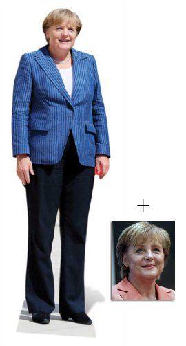Angela Merkel Lebensgrosse Pappfiguren / Stehplatzinhaber / Aufsteller - Enthält 8X10 (25X20Cm) starfoto. :: mehr auf www.ztyle.de